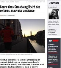 IMPRESSION #5 Courir dans Strasbourg libéré des voitures, mauvaise ambiance